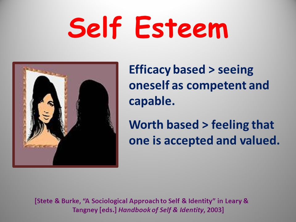 Tangney [eds.] Handbook of Self & Identity, 2003]